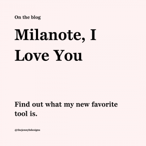 a new tool, milanote
